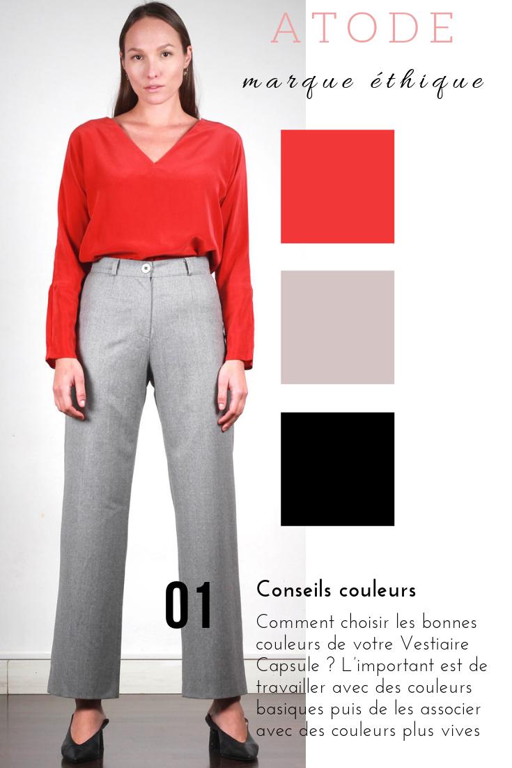 bc3dc64a400 Pantalon large femme gris en laine flanelle Laura en 2019