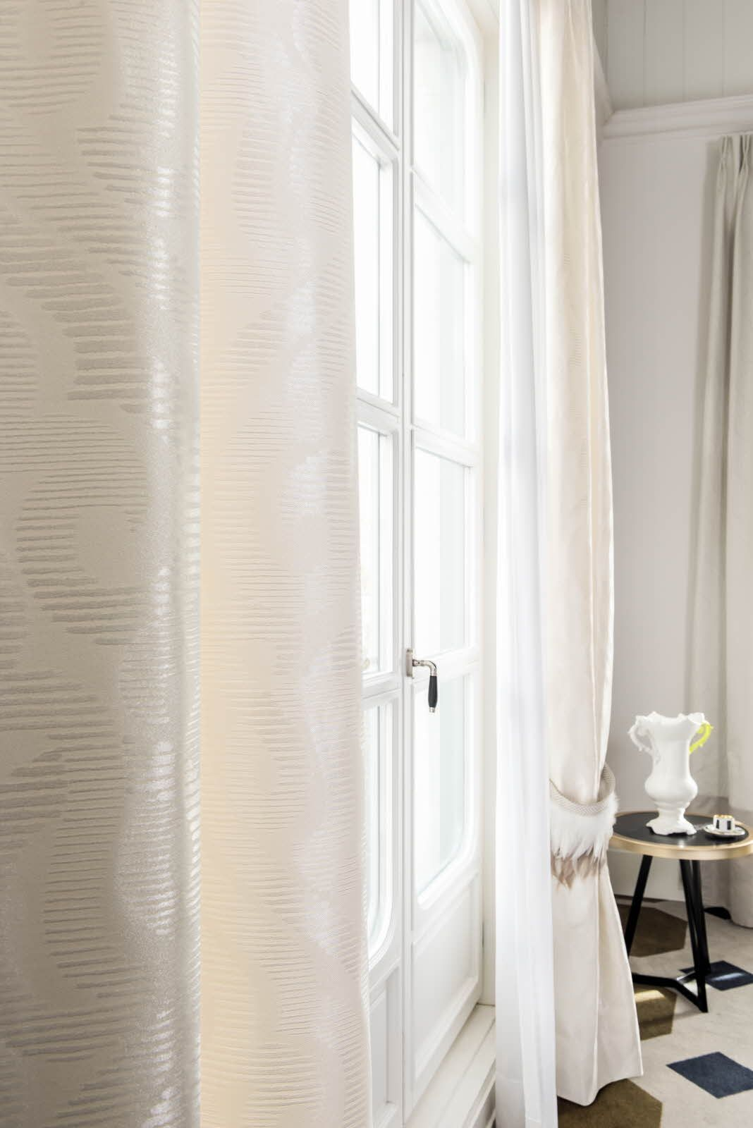 White Curtain Fabric From Fr One Palazzo Reale Range