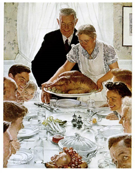 Image result for norman rockwell thanksgiving'