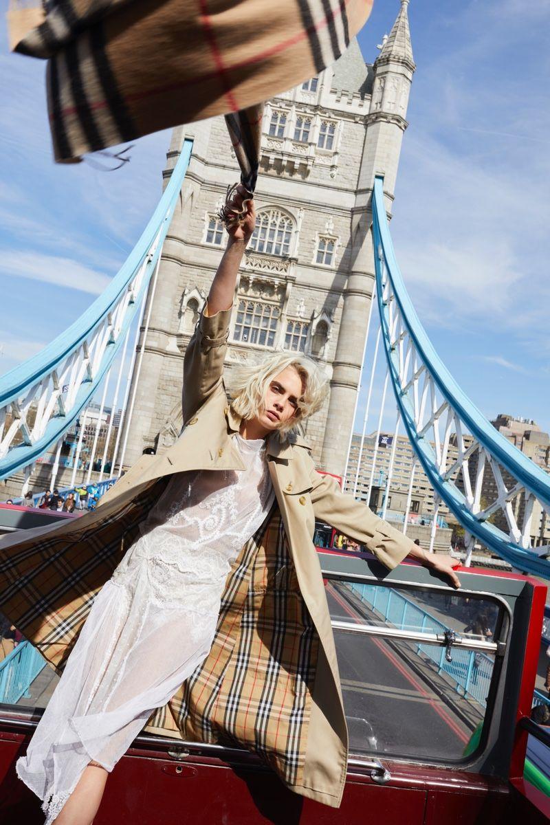 Cara Delevingne Celebrates London in Burberry  Her  Fragrance Ad ... c9beb44bf6398