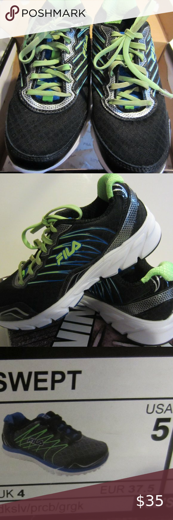 Boys Fila tennis shoes size 5 in 2020