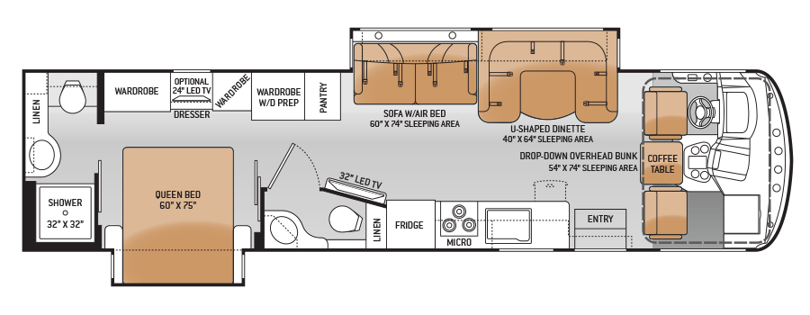 Floor Plans Hurricane Motorhomes Class A Rv By Thor Motor Coach Floor Plans Class A Motorhomes Bathroom Floor Plans