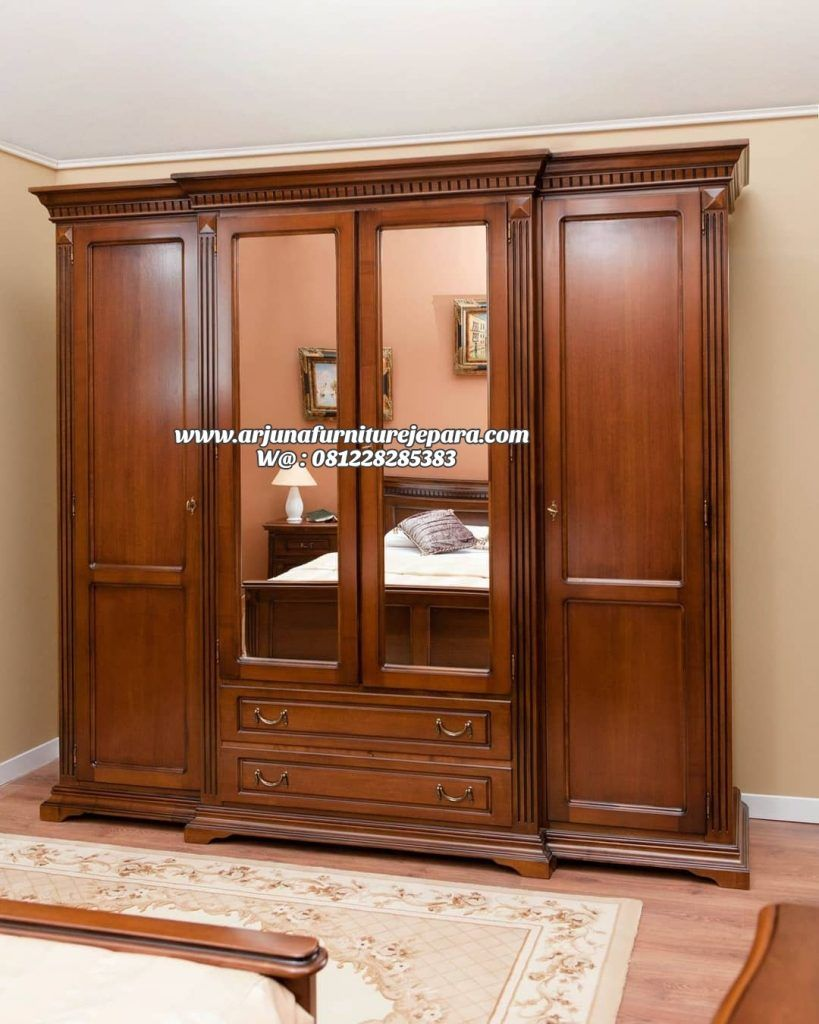 Lemari Pakaian Jati Minimalis Model Baru Lemari Baju Minimalis Kayu Wooden Wardrobe Design Bed Furniture Design Furniture Design Wooden Lemari pakaian kayu jati