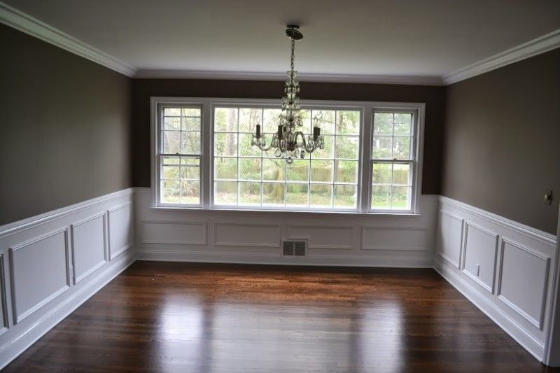 love the wall color  Picture Frame Molding in Dining Room  Madison  NJ. crown molding and wainscoting   Google Search   home interior
