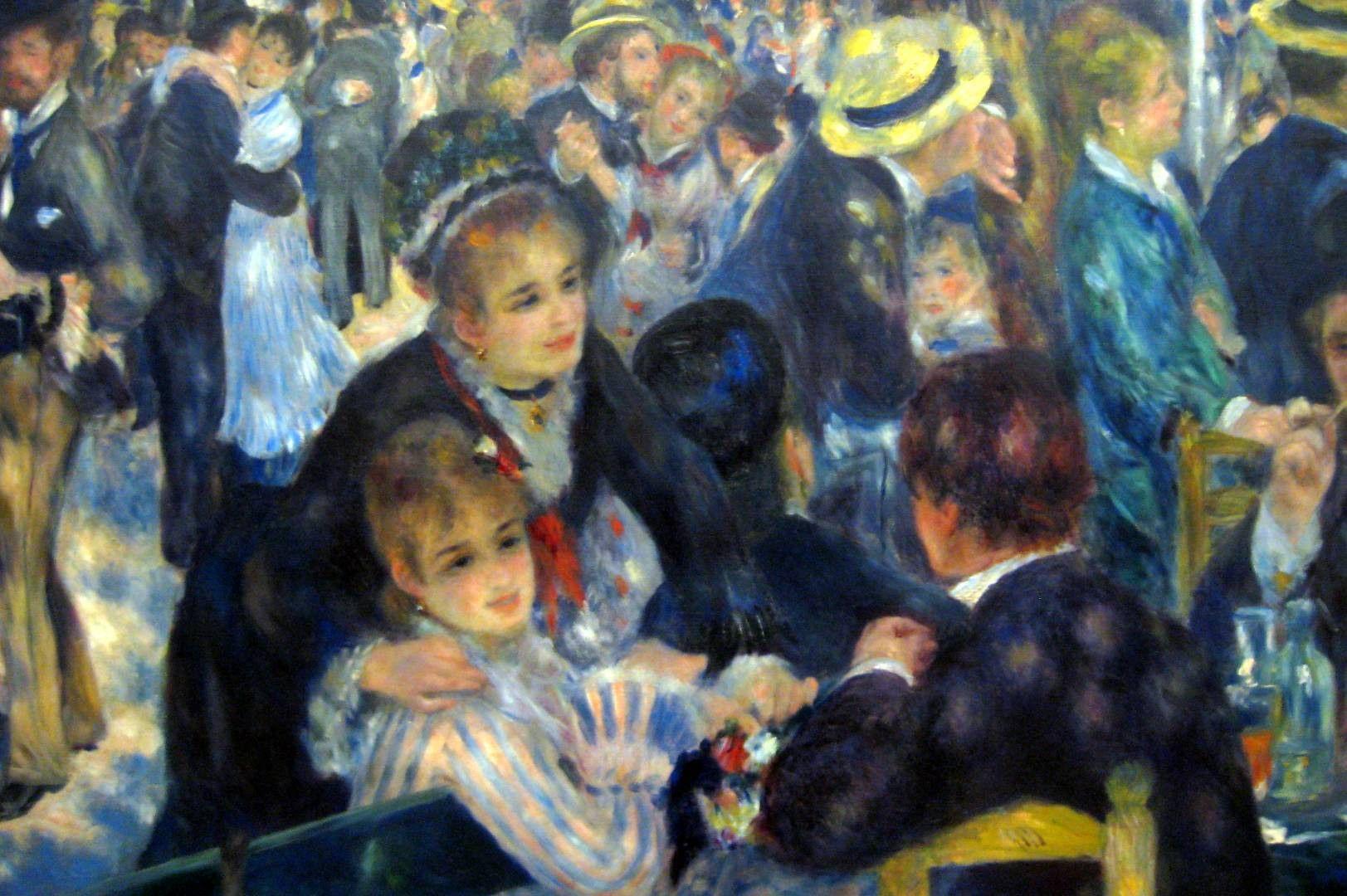 Pierre Auguste Renoir S 1876 Bal Du Moulin De La Galette Dance At