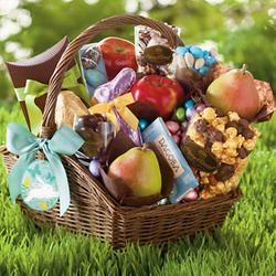 Amazing easter gift ideas easter gifts pinterest easter easter gift basket deluxe no easter is complete without chocolate lots and lots of chocolate so weve made an easter basket full of it negle Choice Image