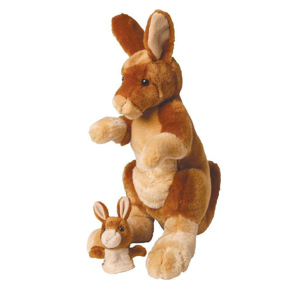 Mother And Baby Joey Kangaroo Plush Stuffed Animal Set Common