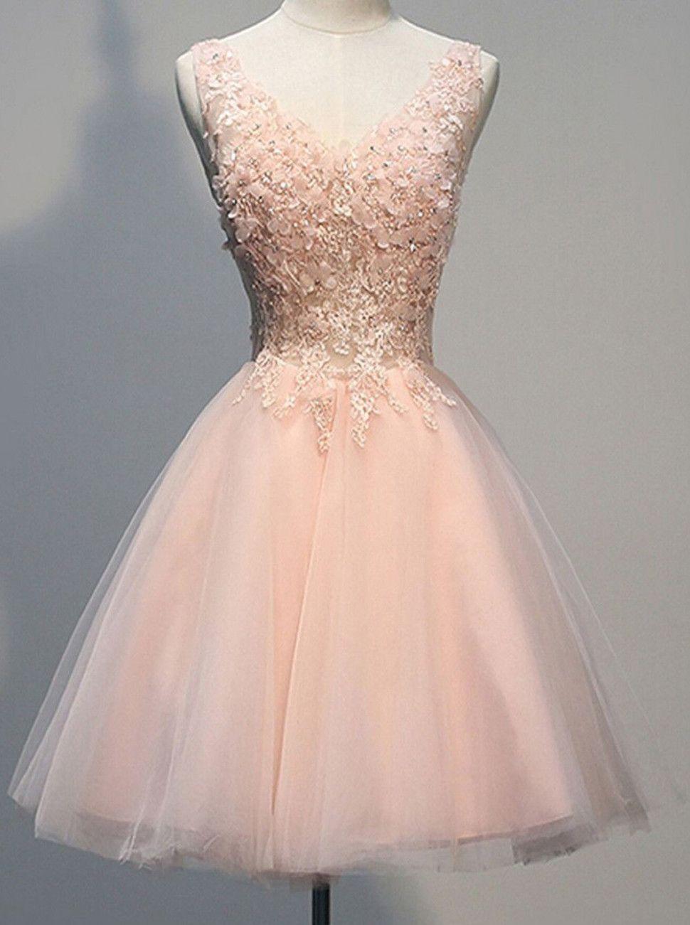 10 Kleid Kurz Rosa in 10  Kleider konfirmation, Abendkleid