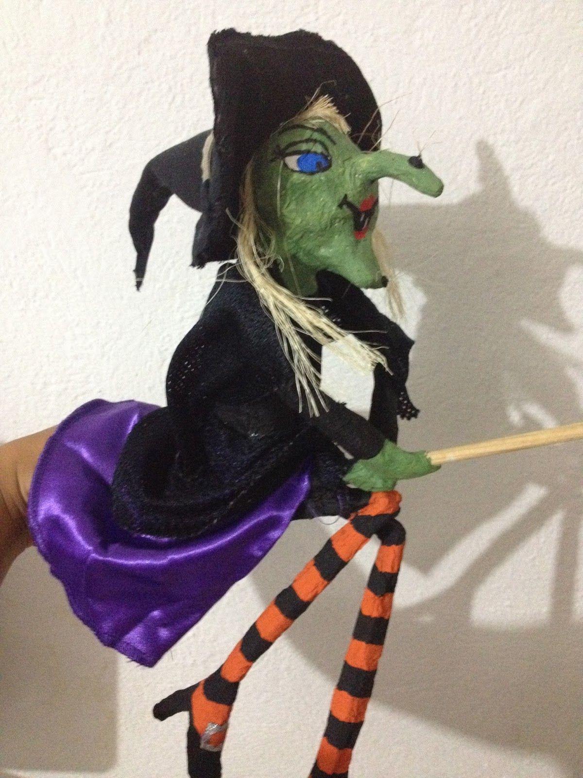 o hacer tu propia bruja de papel mache hallowen