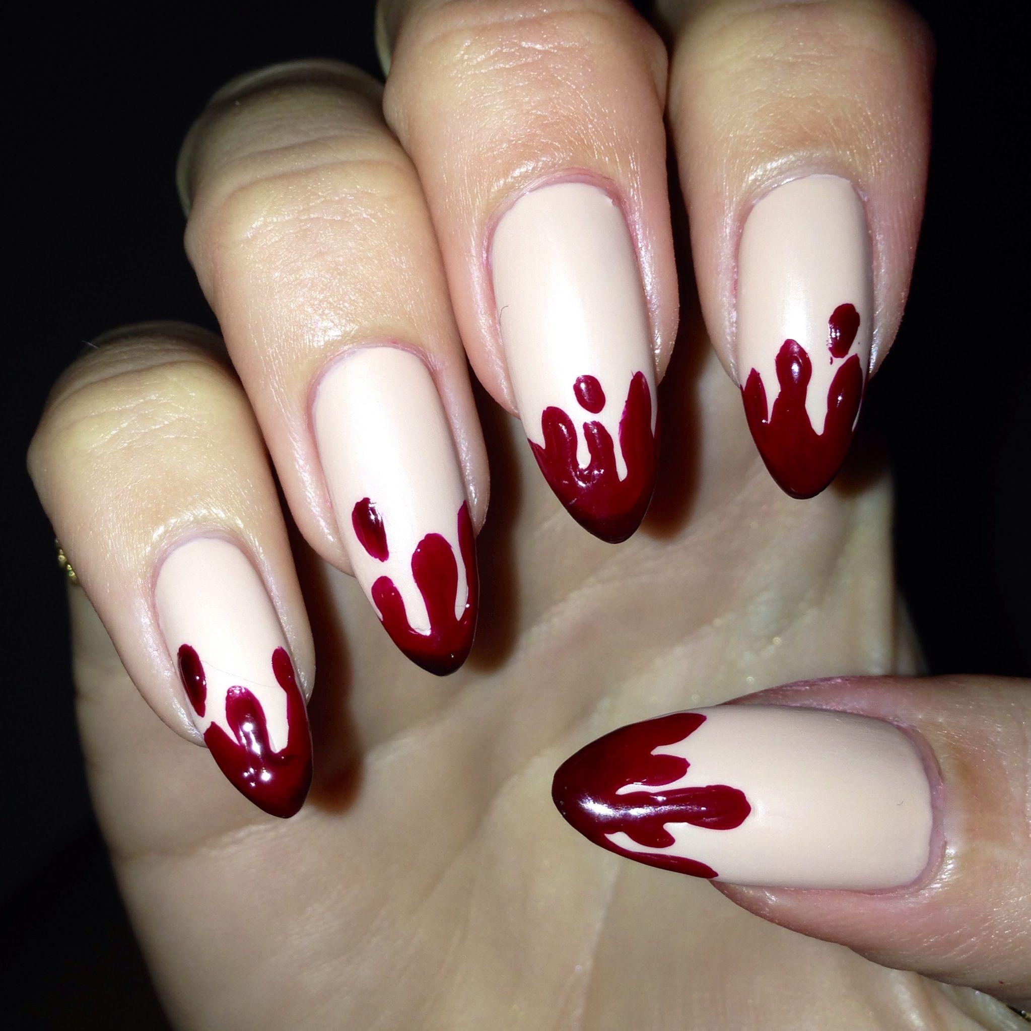 #halloweennails #halloweennailart | Pointy nail designs ...