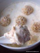 Ein Löffelchen cremiges Giotto-Eis