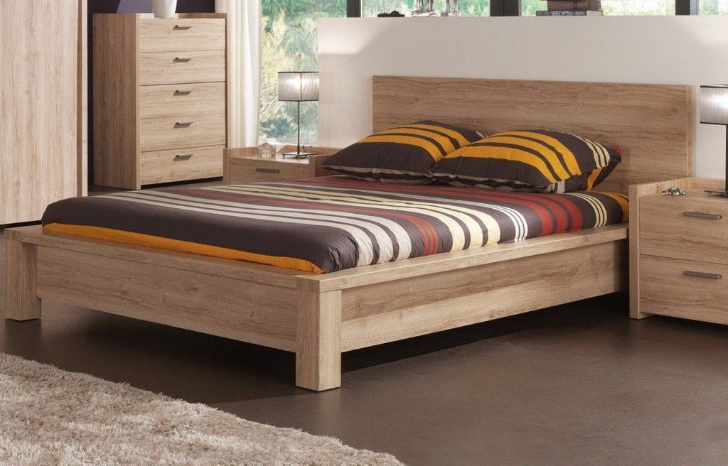 trouver modele lit 2 places en bois mi primera casa pinterest wood beds bedrooms and pine. Black Bedroom Furniture Sets. Home Design Ideas