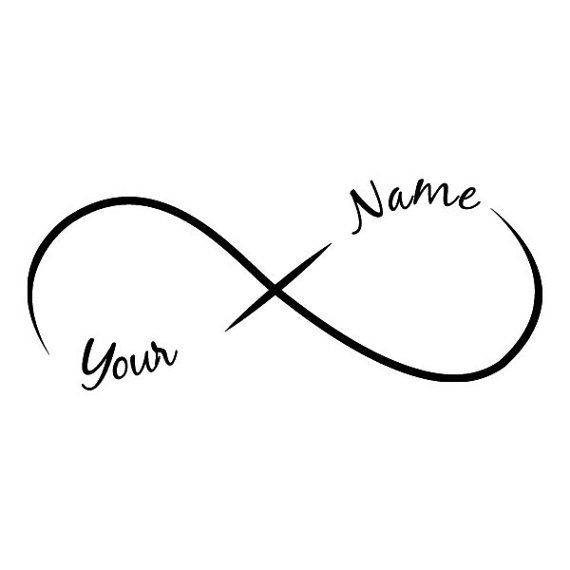 Infinity Add A Name Temporary Tattoo 2 Names By Tattoofun On Etsy