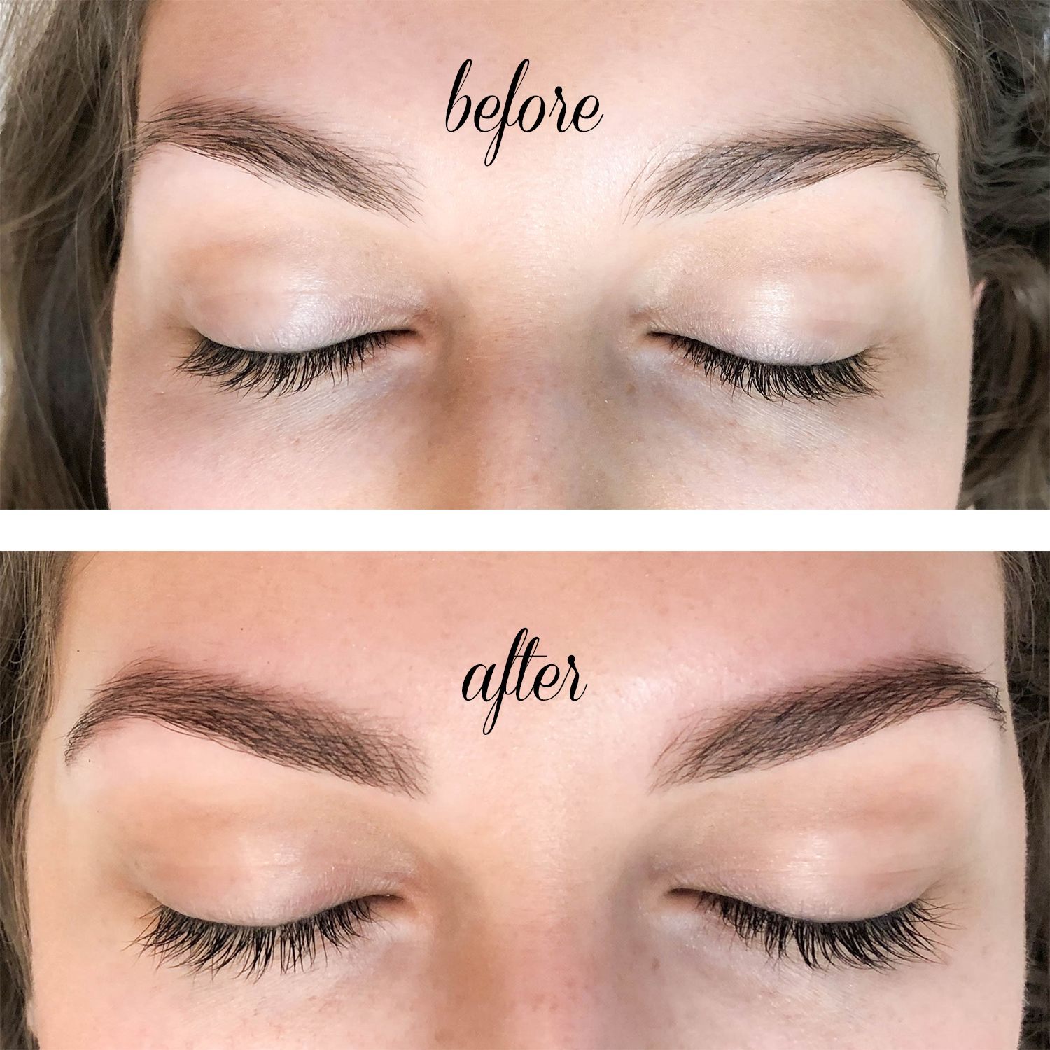 Before After Tinted Brows Lashes Feat Waxing The City Lash And Brow Tint Brow Wax Brow Tinting