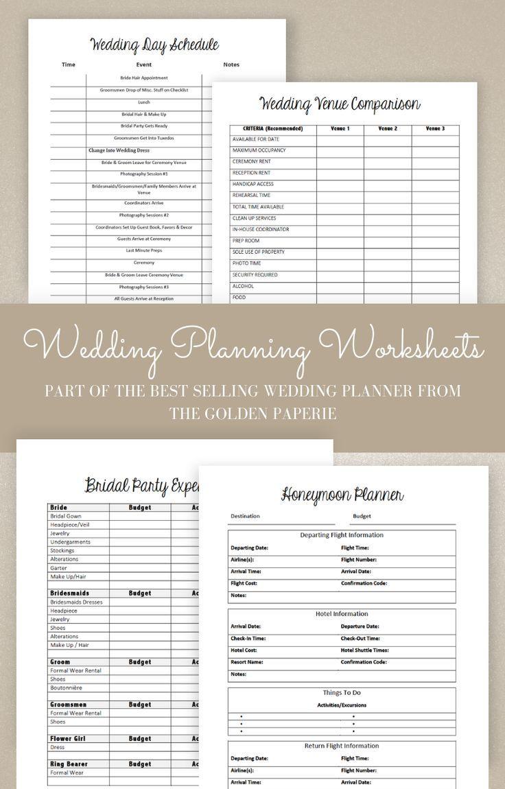 Wedding Planner Printable, Wedding Planning Book ...