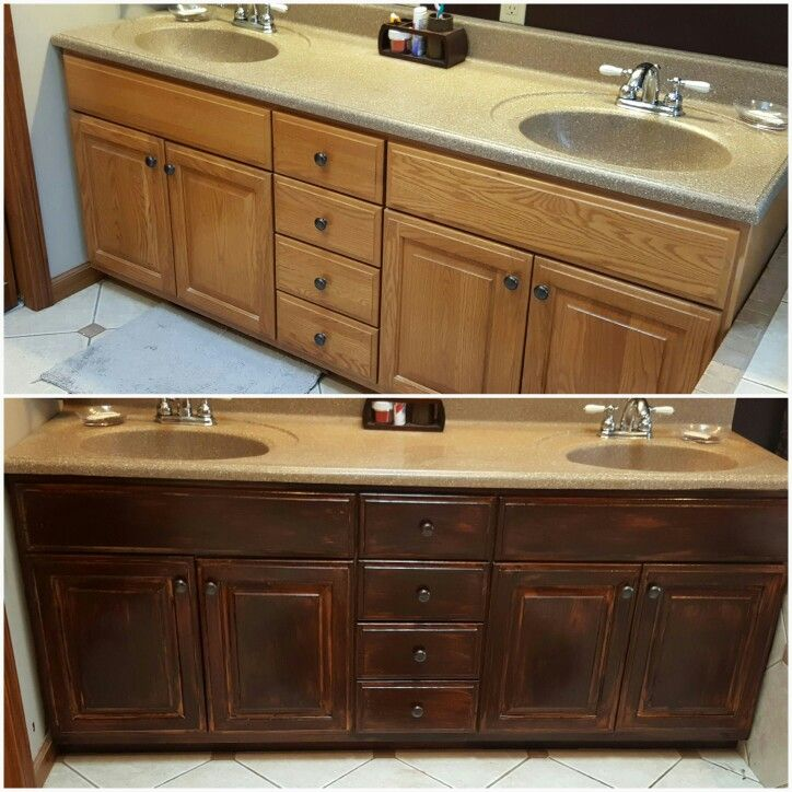 Before and after using gel Stain nothing else...love it ...