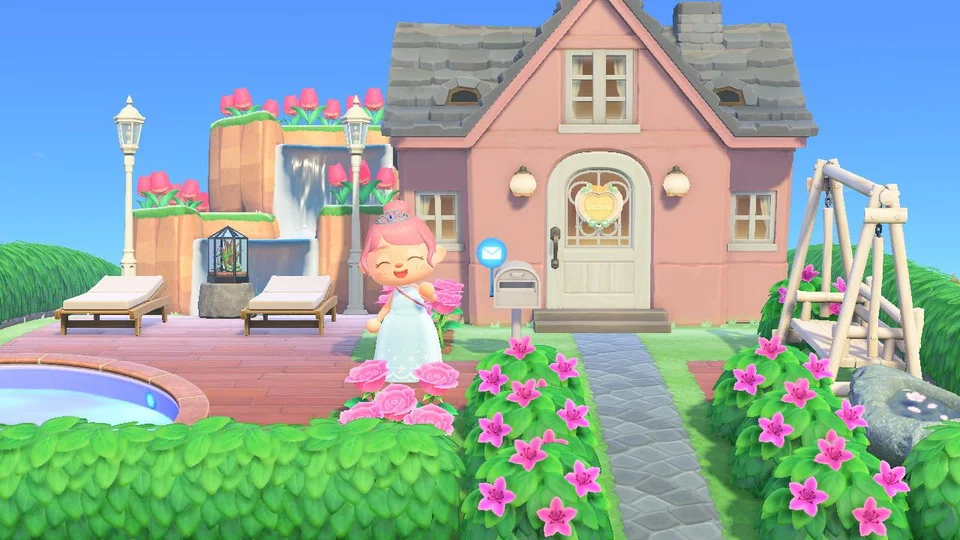 Revamped my yard and house exterior! : AnimalCrossing in ...