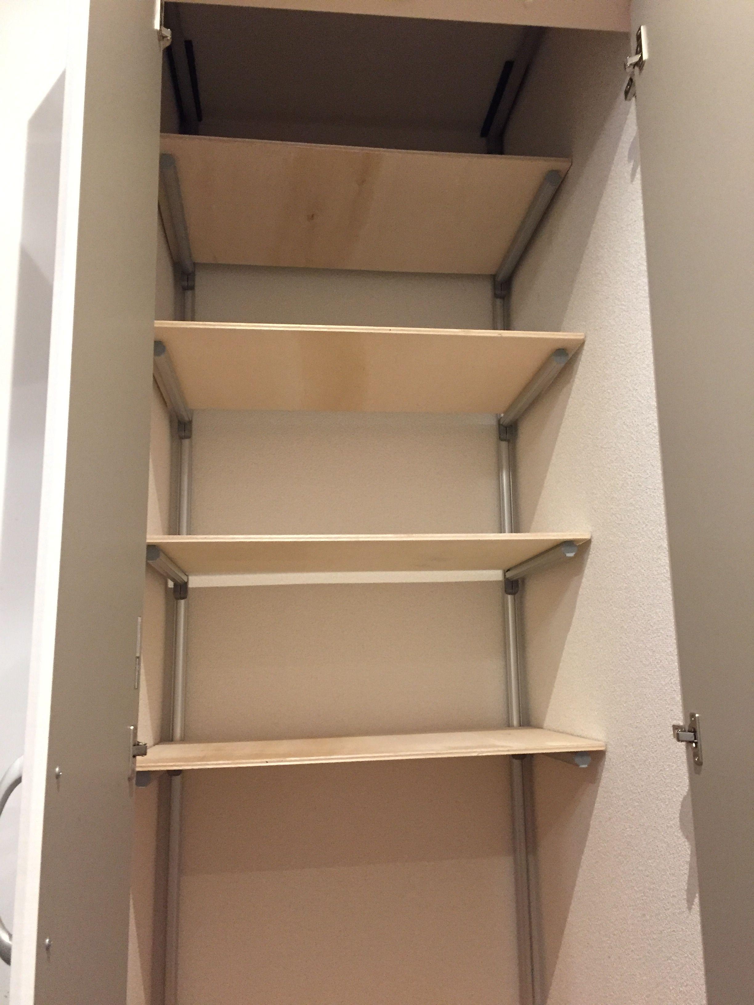 パントリーの可動式収納棚をdiy 製作編 収納棚 棚 フレーム棚