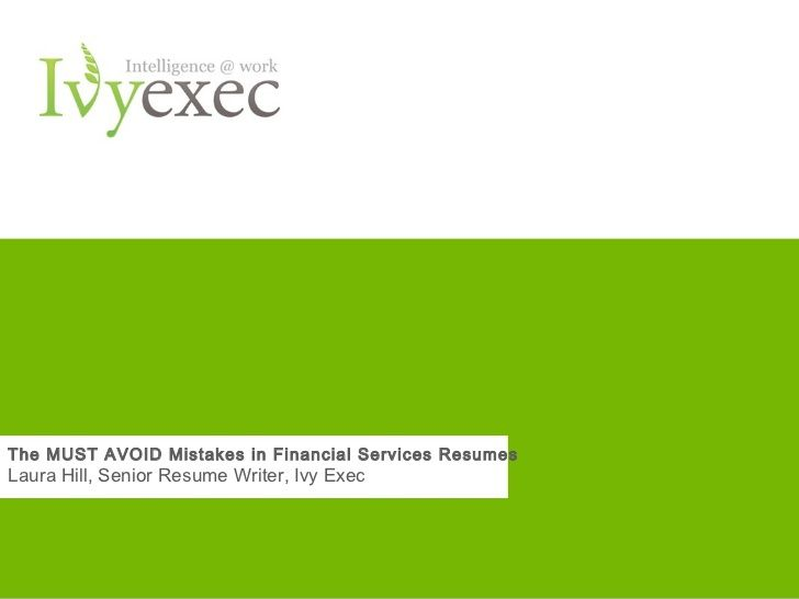 Financial service resumes financial services financial