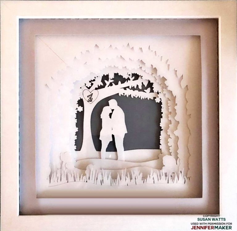 Shadow Box Paper Art Template to Customize (With images