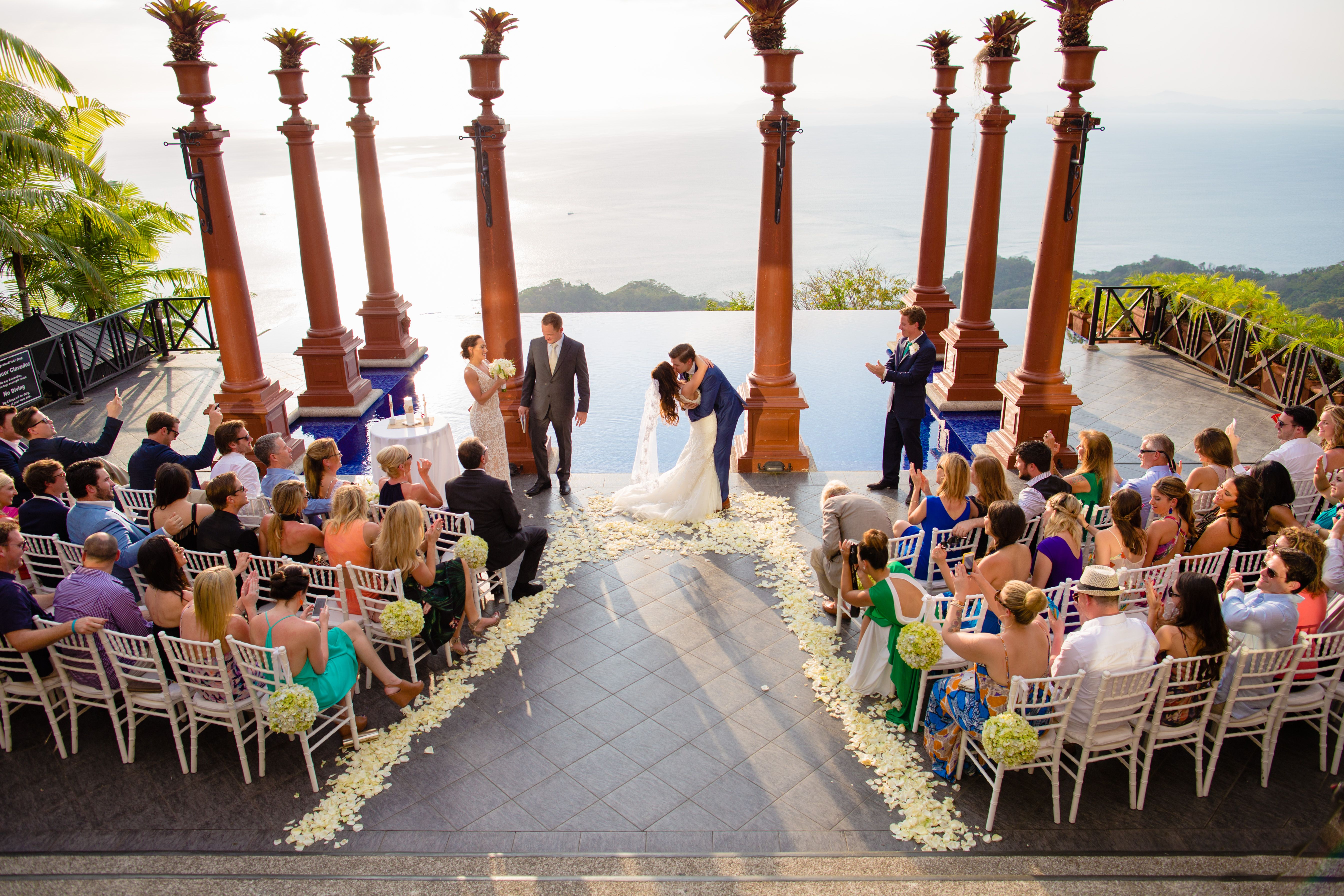 Wedding Couple Carried On Chairs During Dancing The Horah Reception Took Place At Zephyr Palace In Costa Rica