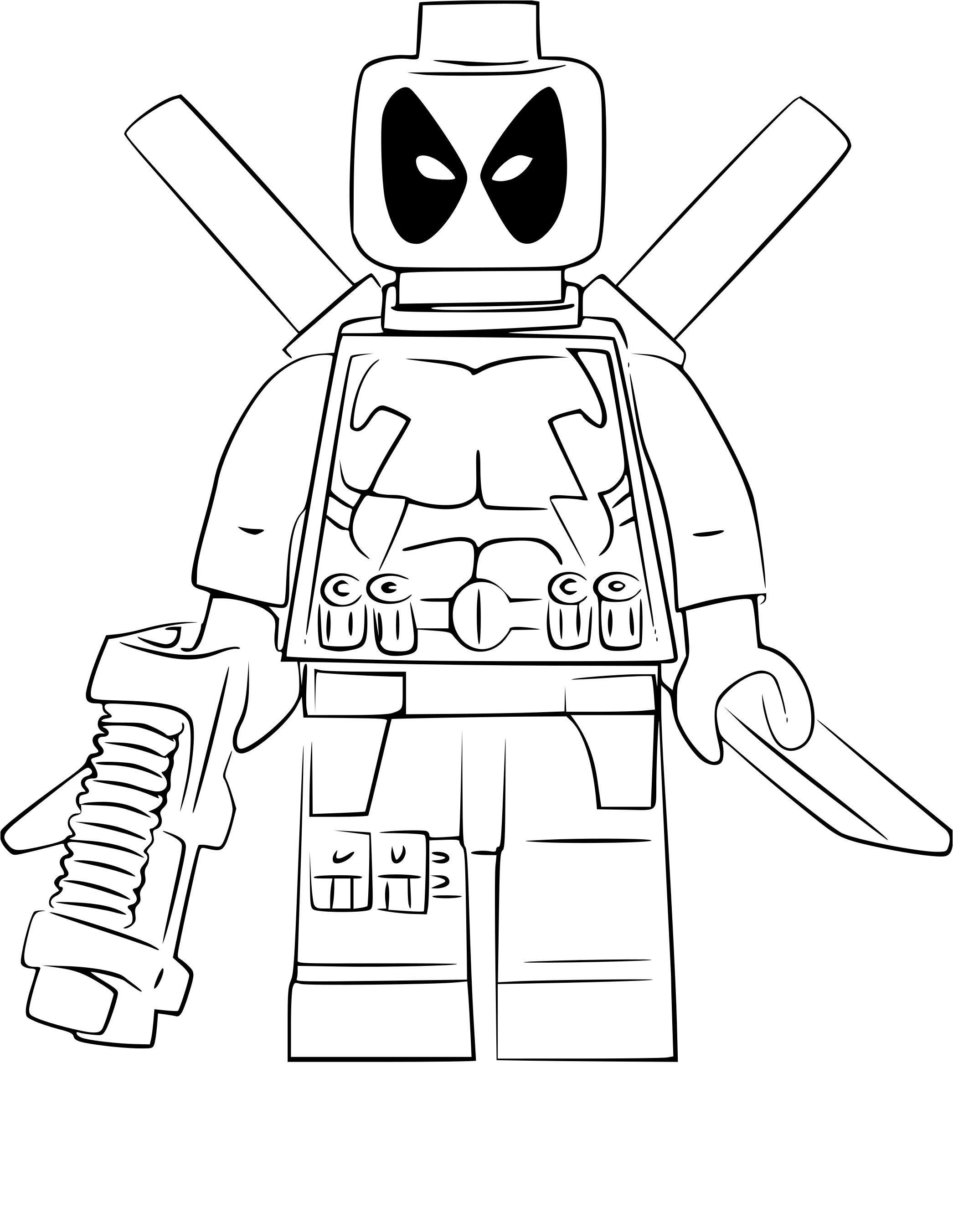 Unique Coloriage Lego City Lego Deadpool Coloring Books