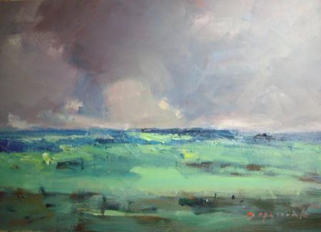 Artist: Faye Depasquale - Title: Yarra Valley  Landscape  Large Canvas (Height - 75.00 cm X Width - 122.00 cm )