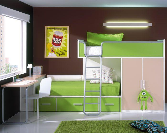 La opci n m s moderna y funcional habitaciones - Habitaciones juveniles espacios pequenos ...