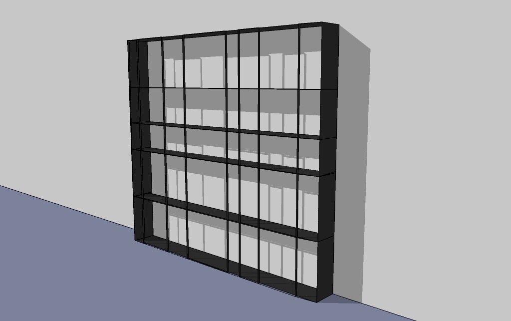 Bücherregal aus brüniertem Stahl Design Bernhard Wolf - Design - designer mobel bucherregal