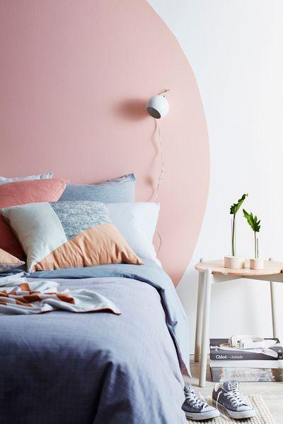 r aliser une t te de lit d co avec de la peinture projets essayer en 2019 pinterest. Black Bedroom Furniture Sets. Home Design Ideas