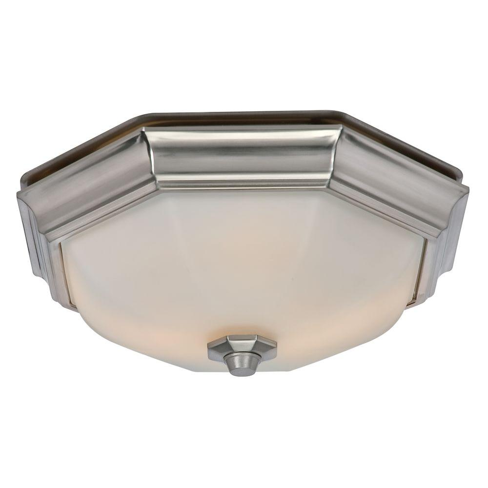 Hampton Bay Quiet Decorative 80 Cfm 2 Sone Bathroom Exhaust Fan With Led Light 80213 The Home Depot Bathroom Exhaust Fan Bathroom Lighting