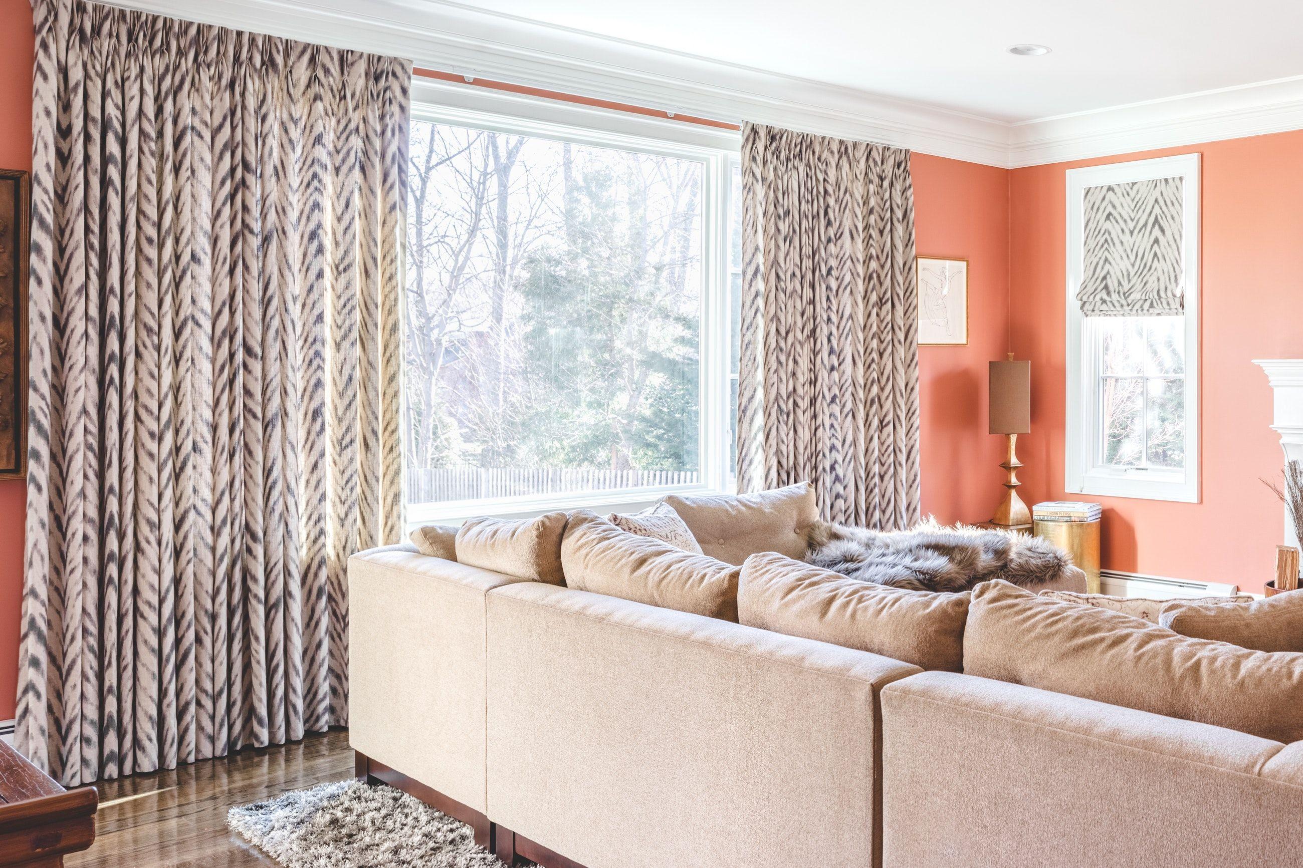 Zebra window coverings  abstract zebra animal print curtain window treatments grey shag rug