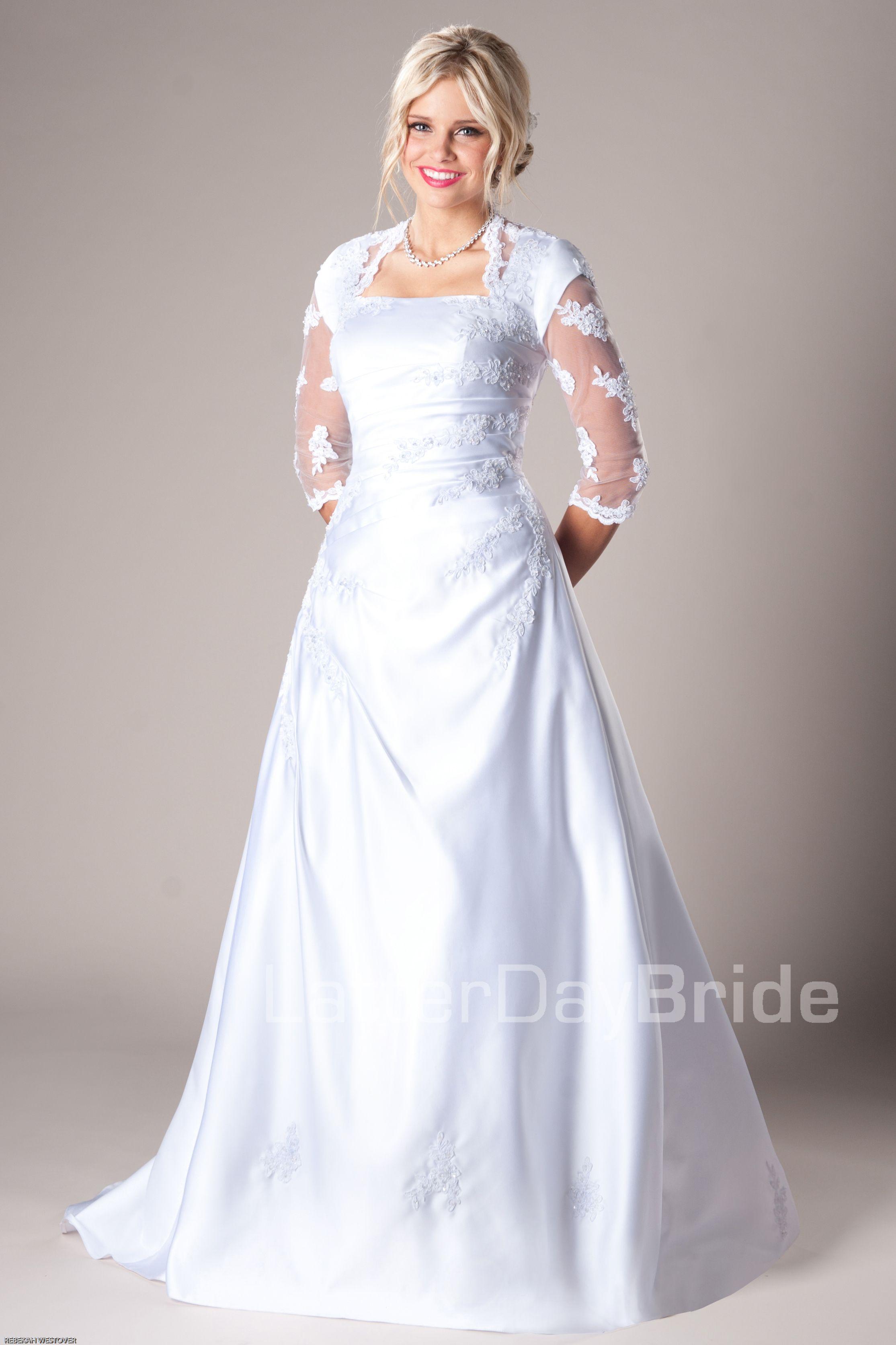 Modest Wedding Dresses : Mormon LDS Temple Marriage - Riverton ...