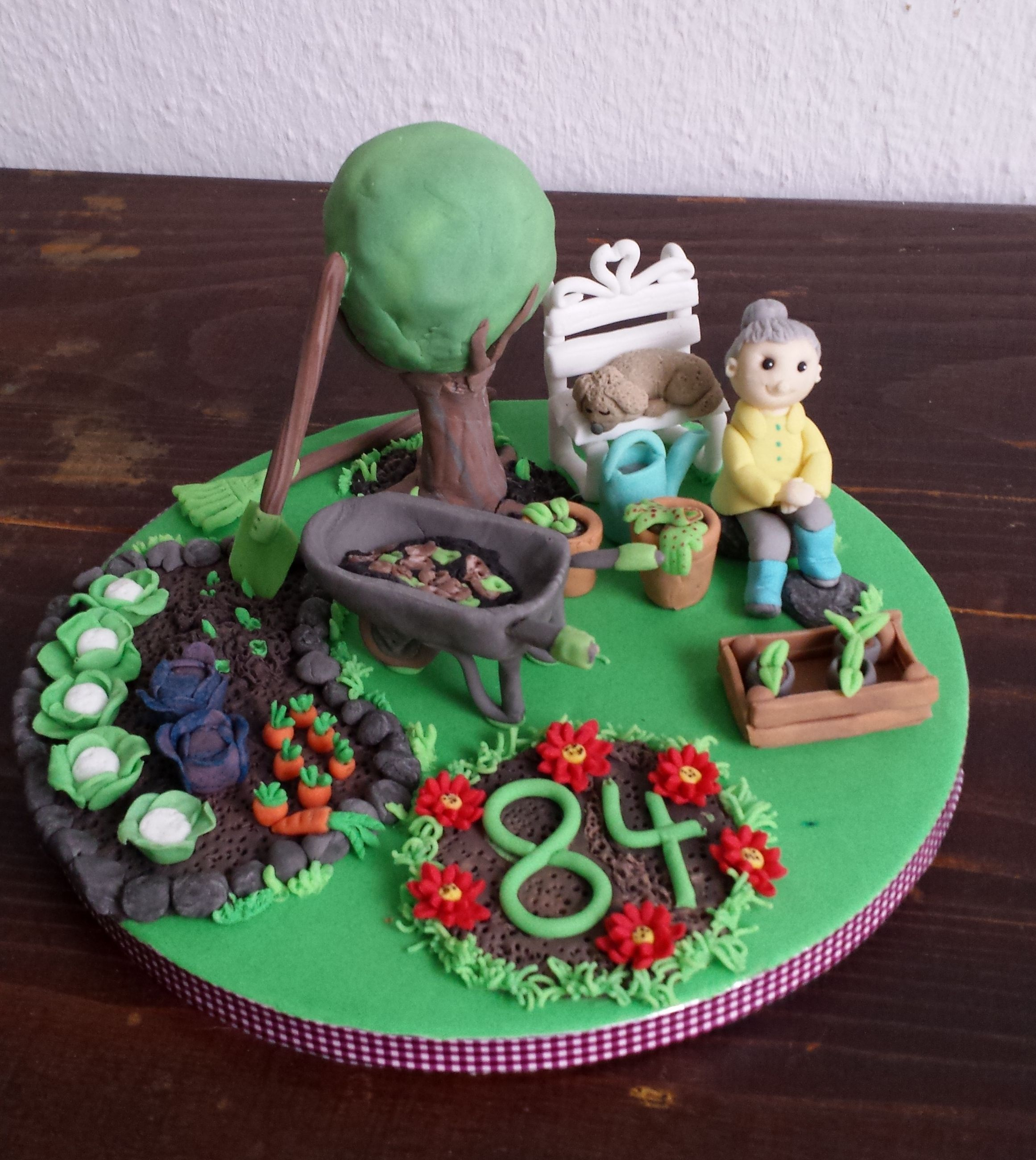 Motivtorte Oma Im Garten Garden Cake Torte Oma Tortendeko Motivtorten