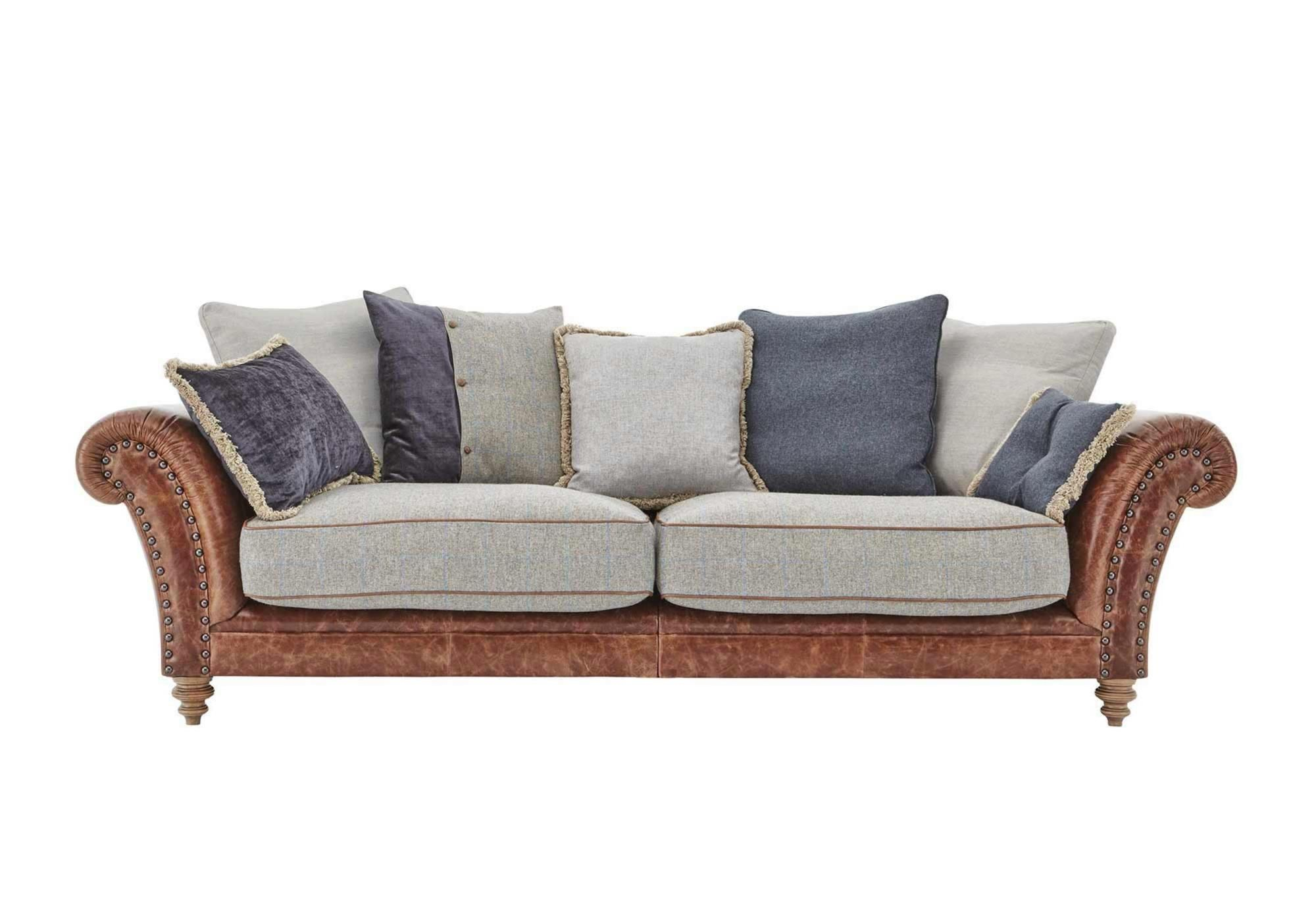 Furniture Village Hartford Sofa The Westwood Three Seater Leather Sofa With Large Soft Scatter