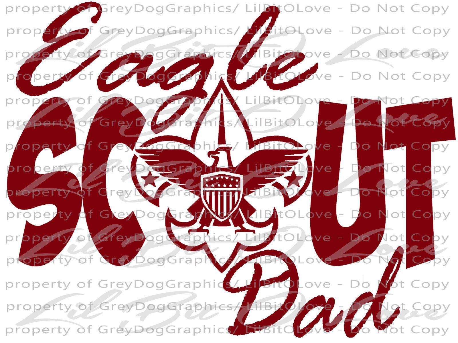 EAGLE SCOUT DAD VINYL DECAL BSA BOY SCOUTS VEHICLE CAR