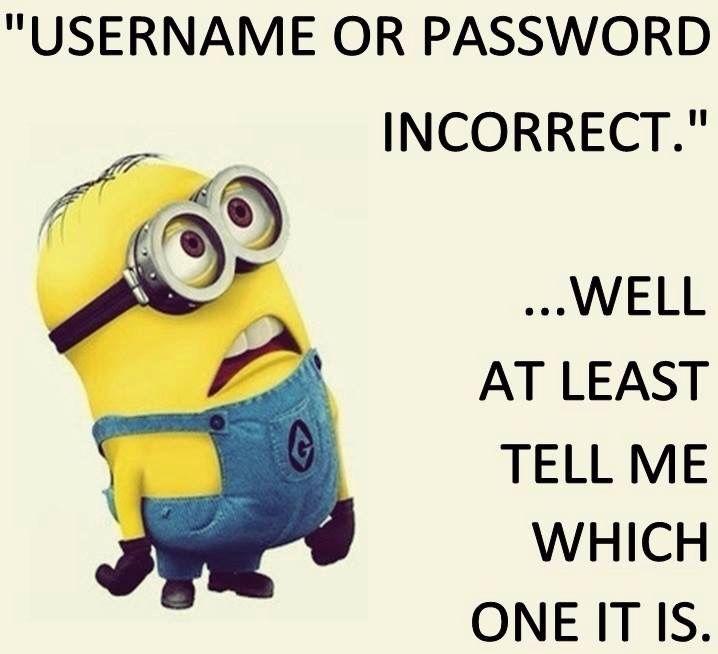 Username or password