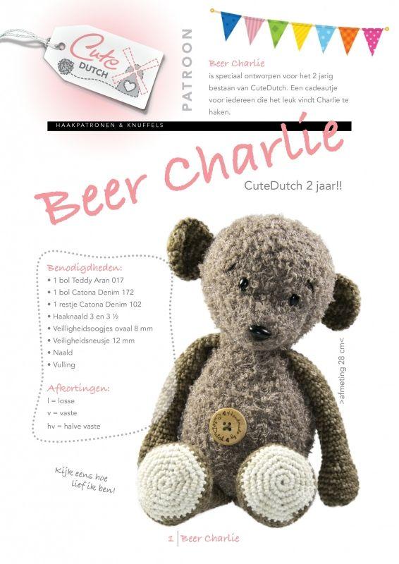 Haken Gratis Patroon Nederlands Amigurumi Beer Charlie Knuffel
