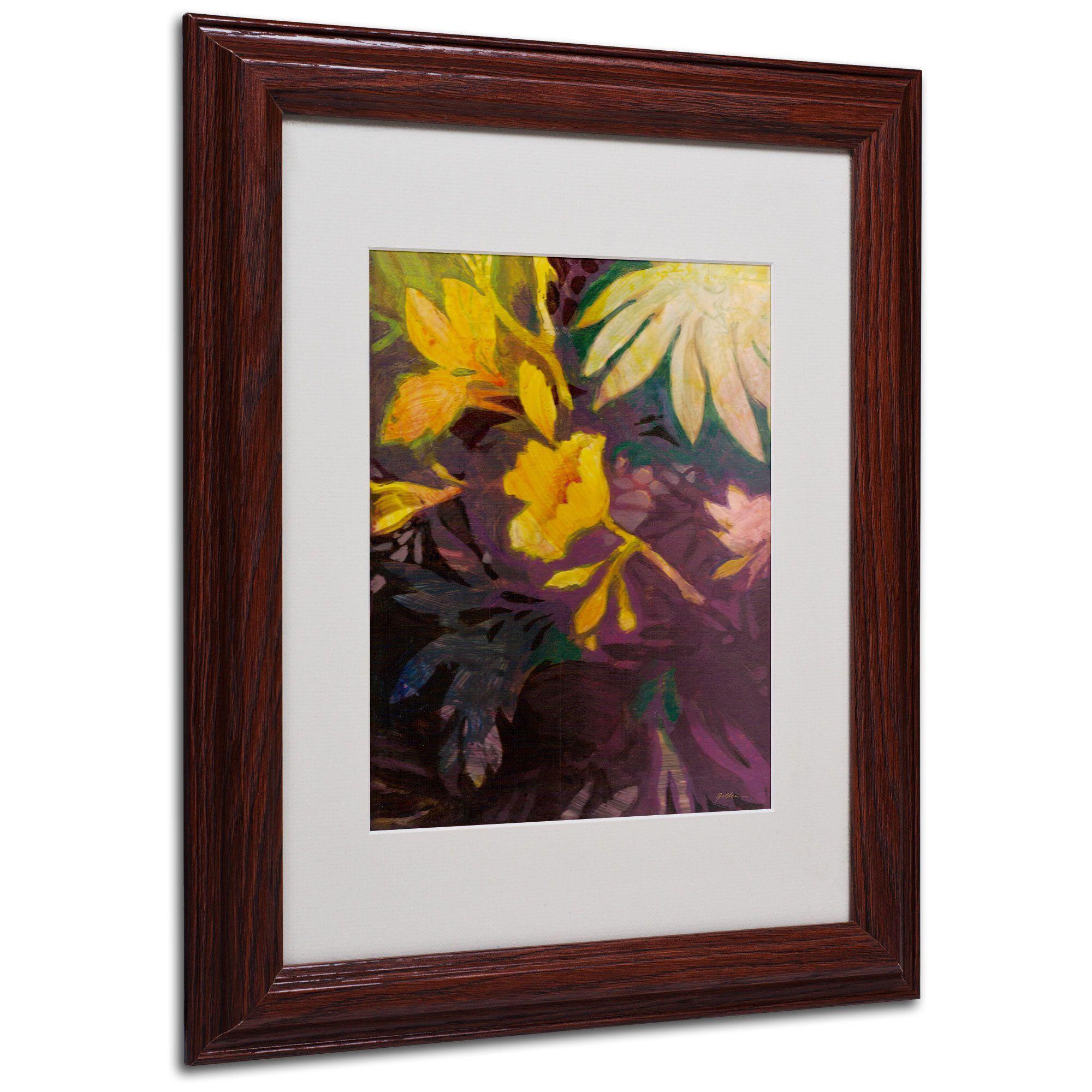 Sheila Golden 'Tropical Evening' Matte, Wood Framed Wall Art