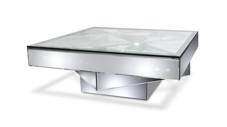 Table Basse Miroir Et Verre Fizuli Table Basse Miroir Mobilier Design Table Basse