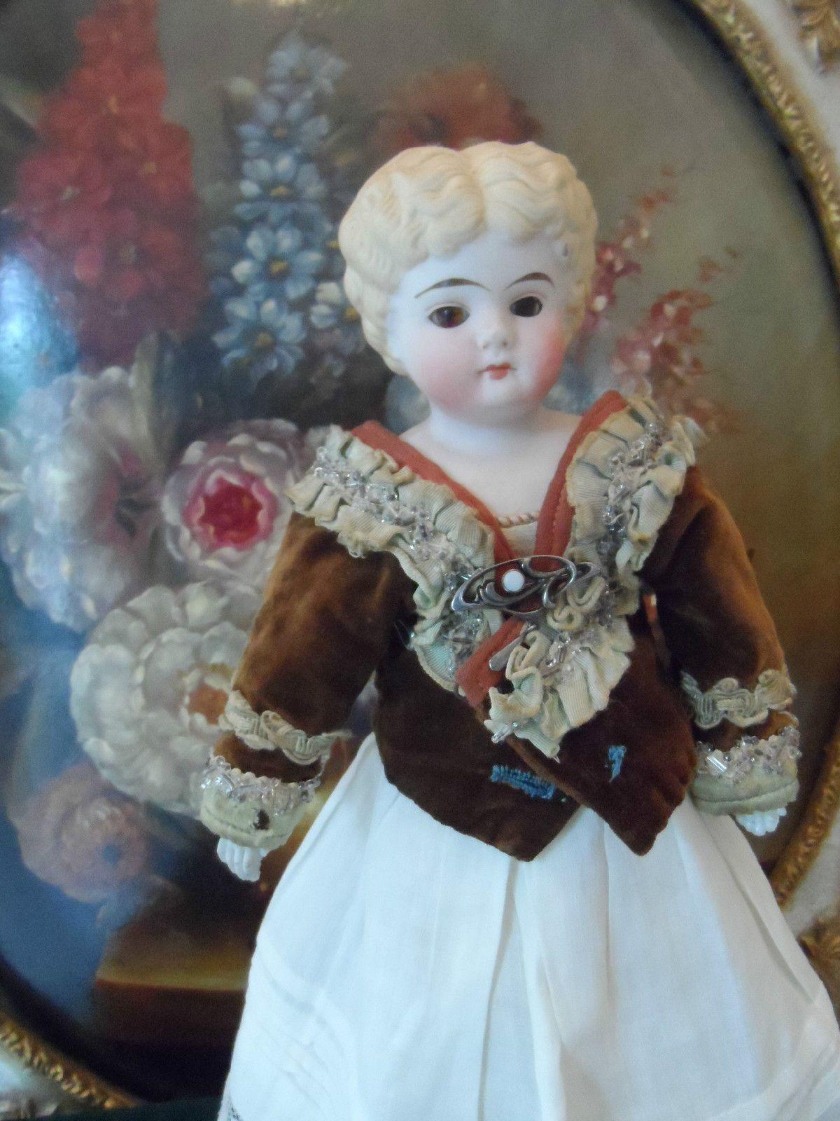 Antike Porzellan Kopfpuppe mit geschloßenem Mund selten !! | eBay