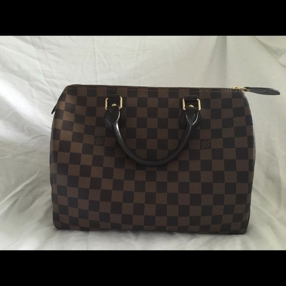 1906a87468ba ... Damier Ebene Speedy 30 in my Poshmark closet! My username is   alliechildchwer.  shopmycloset  poshmark  fashion  shopping  style  forsale   Louis Vuitton ...