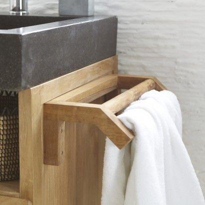 Porte serviette en teck brut Kayu Teak and Sinks