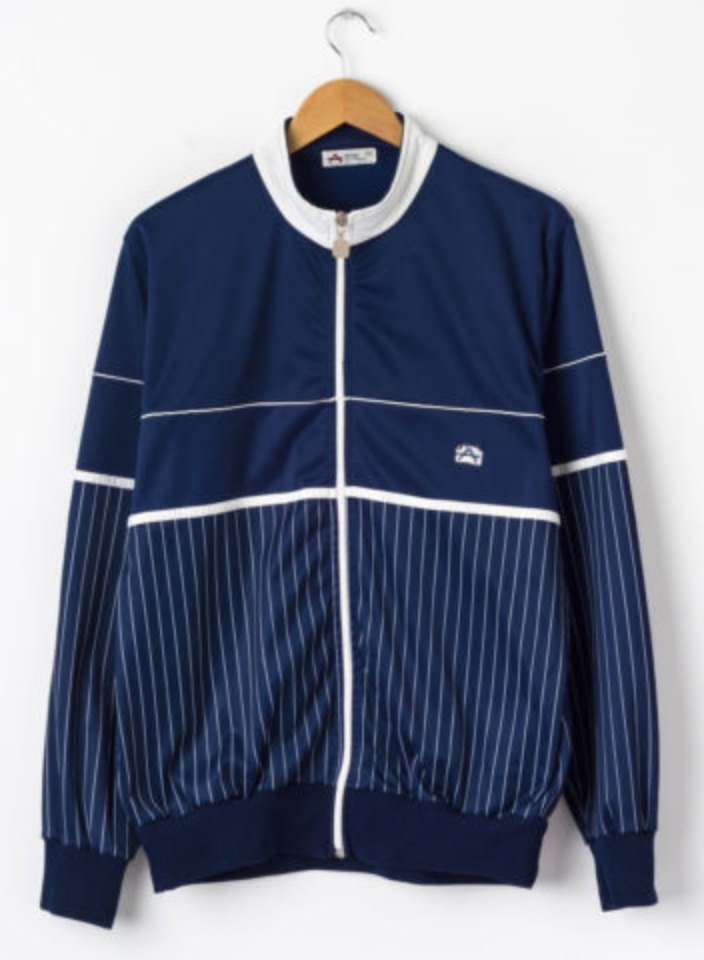 FOR SALE  Vintage ATHLET SPORT Track Jacket in Navy Size L Large Retro  Tracksuit Top 34e93db0e