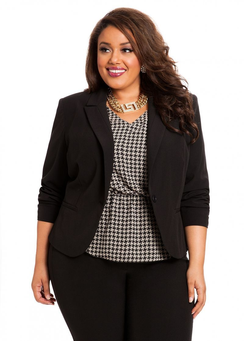 3280091e95f Ashley Stewart Women s Plus Size Signature Blazer Black 12 - Plus Size  Casual Jackets - AshleyStewart.com Plus Sizes 12-26