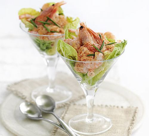 Classic prawn cocktail recipe pinterest starters dinners and bbc good food forumfinder Image collections