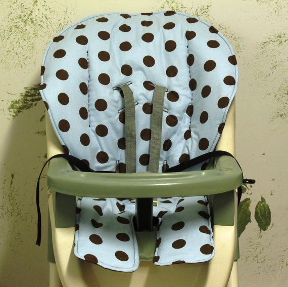 Graco High Chair Cover Pad Replacement Baby Blue With Large Etsy Highchair Cover Graco High Chair High Chair