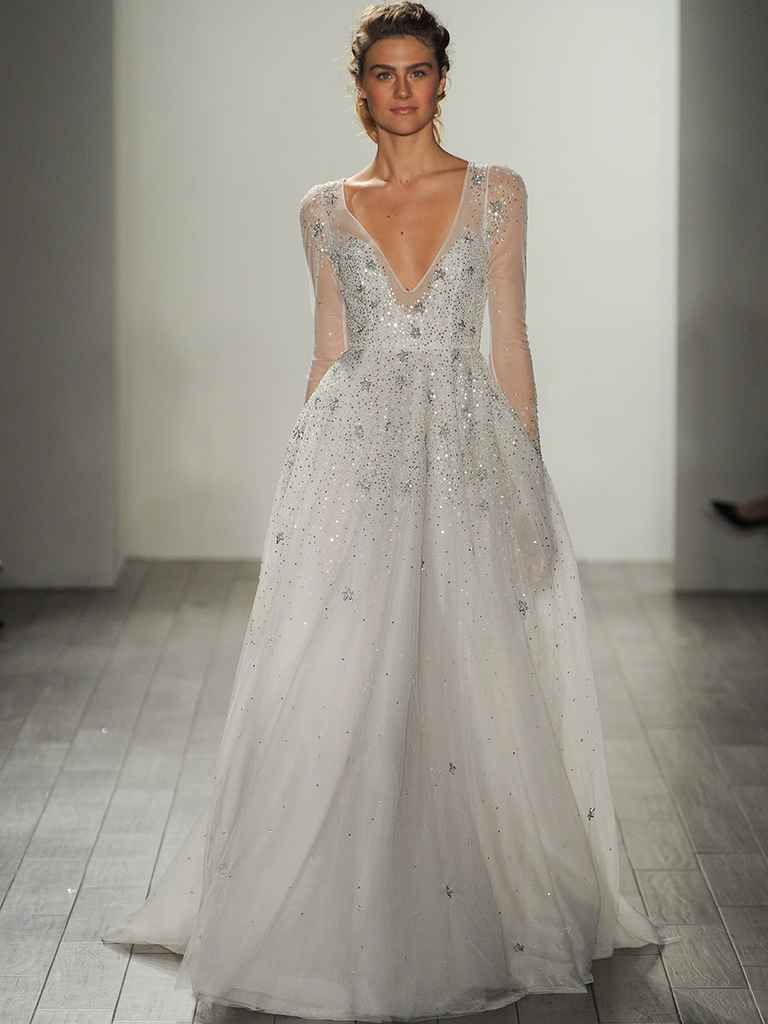 Hayley paige fall shimmering ethereal wedding dresses