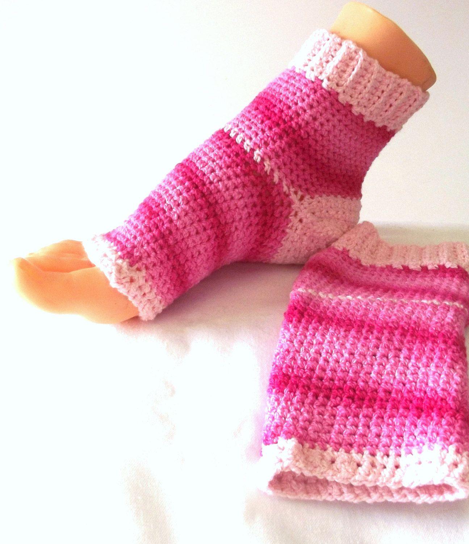 Pink Flip Flop Socks - Cotton Toeless Socks - Yoga Pilates No Toe ...