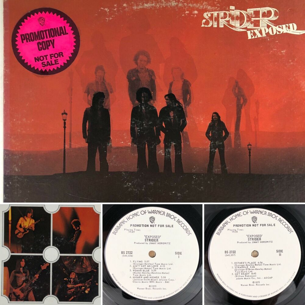 Details About Strider Exposed Lp Bs 2722 Promo Vinyl Vg Tested Vinyl Striders Hard Rock